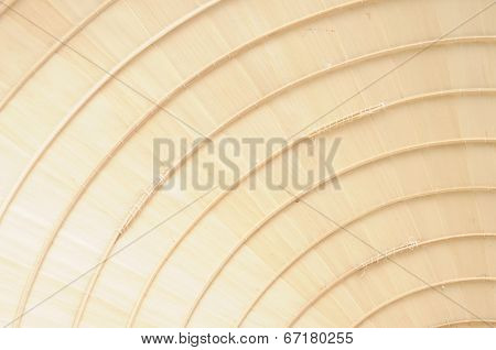 Asian Conical Hat Make Of Bambou Wood And Palm Leaves