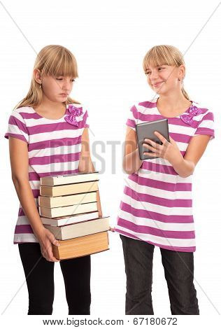 Difference Of The Books And An Ebook Reader