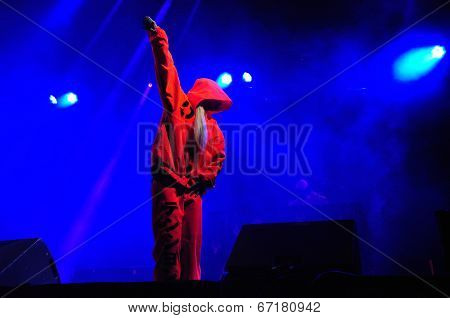 Die Antwoord performs live at Electric Castle Festival
