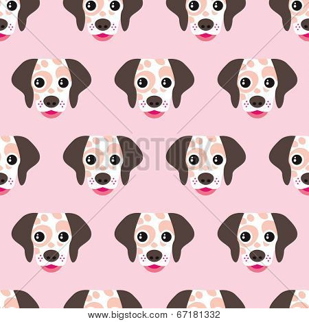 Seamless kids dalmatian puppy pattern cute dog illustration background pattern in vector
