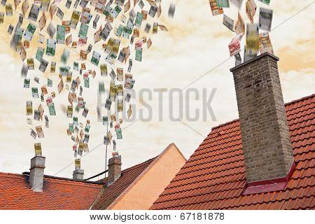 Euro Money Flies Up The Chimneys