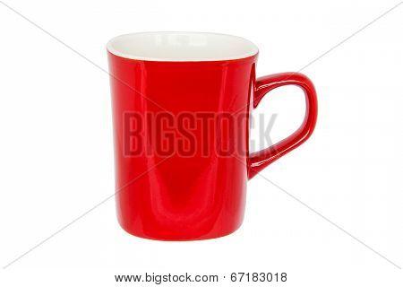 Red Mug Isolated On White