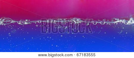 Bubbles in the water