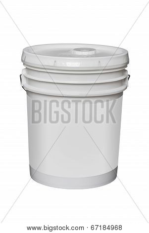 5 gallon bucket, isolated