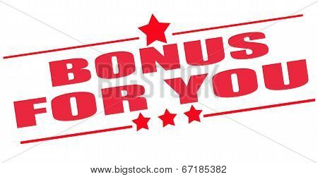 Bonus For You Stamp