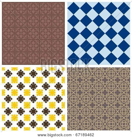Various Ornamental Seamless Patterns