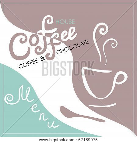 Menu cover for cafe, bar, coffeehouse
