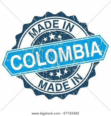 Made In Colombia Vintage Stamp Isolated On White Background