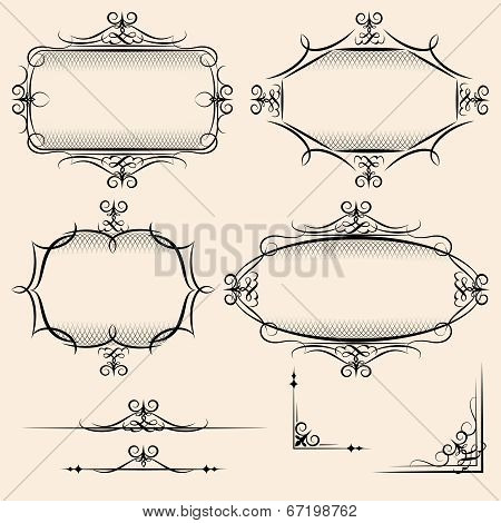 Four elegant vector vintage frames