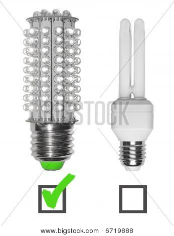 Led And Neon Bulbs With Checkboxes