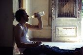 picture of alcohol abuse  - People substance abuse and domestic violence - JPG