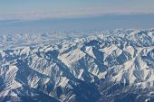 ������, ������: Caucasus mountains View from the airplane