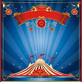 picture of funfair  - blue night square invitation - JPG