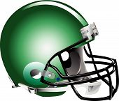 stock photo of football helmet  - Vector illustration of blue football helmet on white background - JPG