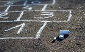 stock photo of hopscotch  - Hopscotch  - JPG