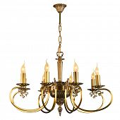 picture of chandelier  - Vintage chandelier isolated on white background with clipping path - JPG