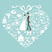picture of wedding feast  - Vector Design for wedding invitation  - JPG