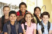 stock photo of pre-teen boy  - Pre teen children in school - JPG