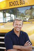 picture of bus driver  - School bus driver - JPG