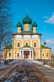 foto of uglich  - Transfiguration Cathedral in the old Russian town of Uglich on the Volga River - JPG
