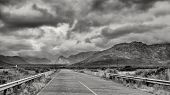 foto of south-western  - Highway cutting through the picturesque landscapes of the Western Cape regions of South Africa - JPG