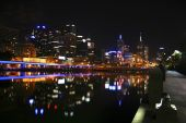 Melbourne At Night, Victoria, Australia