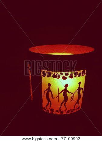 candle holder vase