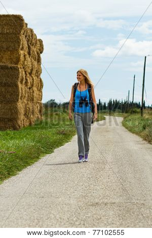 Walk the country road