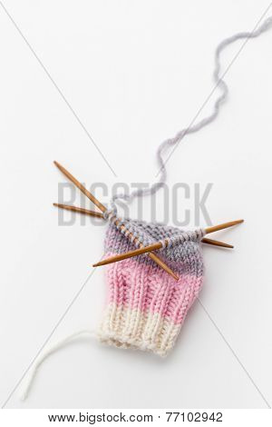 Knitting in the Round on Double Pointed Needles