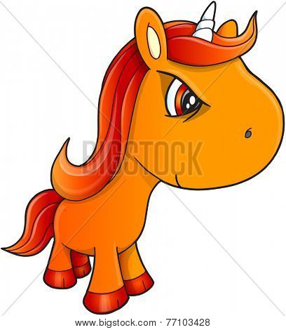 Tough Unicorn Vector Illustration Art
