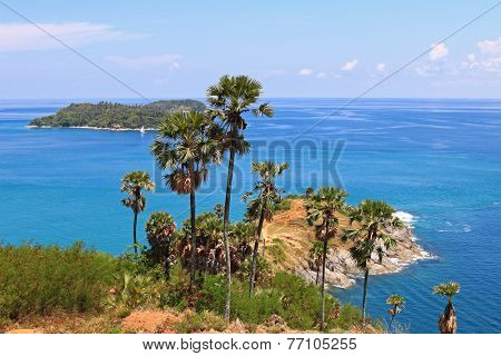Laem Phromthep Cape viewpoint in Phuket Province,Thailand