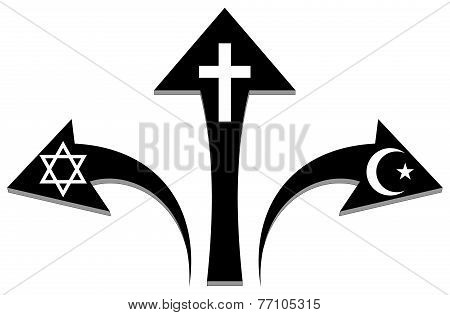Arrows And Religious Symbols - Illustration