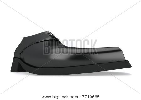 Man's Black Shoe
