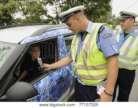 Traffic police inspection