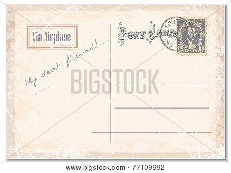 vintage grunge postcard.vector illustration