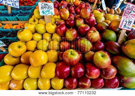 Fresh Fruit Being Sold in the Public Open Market