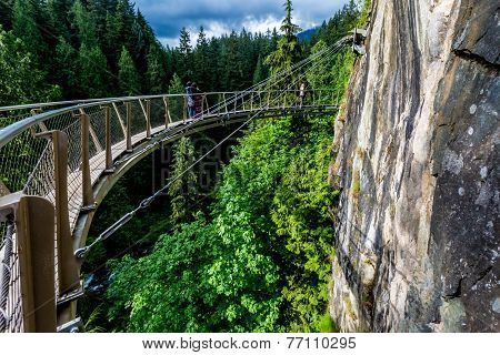 Beautiful Capilano Cliff Walk Suspension Bridge