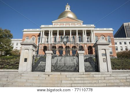 Massachusetts State House, Bullfinch entrance.