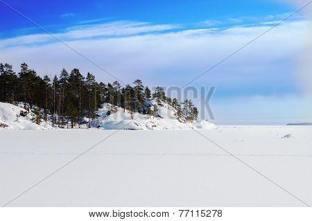 Sea Island In The Winter