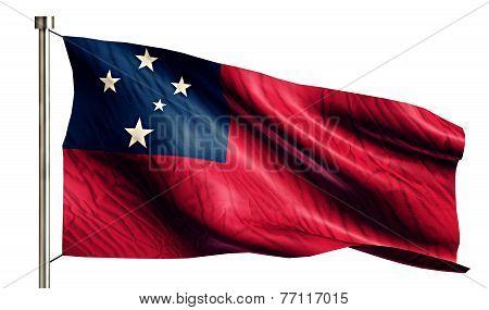 Samoa National Flag Isolated 3D White Background