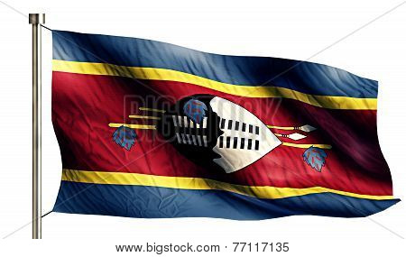 Swaziland National Flag Isolated 3D White Background