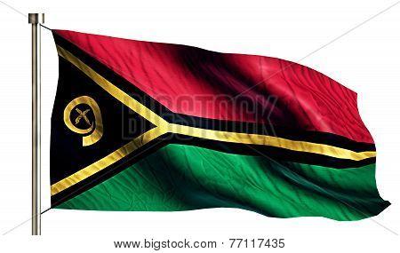 Vanuatu National Flag Isolated 3D White Background