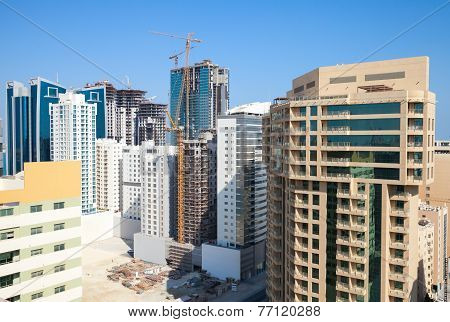 Office Buildings And Hotels Are Under Construction