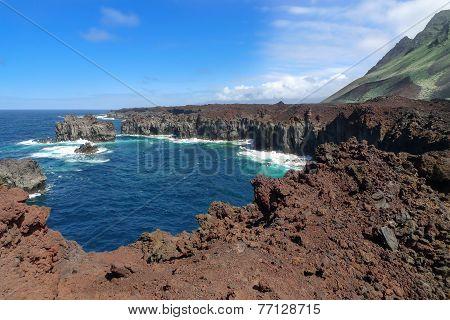 El Hierro - Rocky coast at the Punta de La Dehesa
