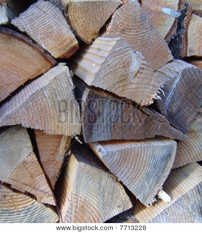 Winter wood pile