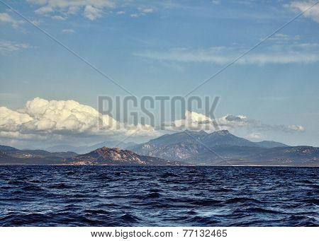 Côte D'azur A View On The Coast And Mountains From The Sea