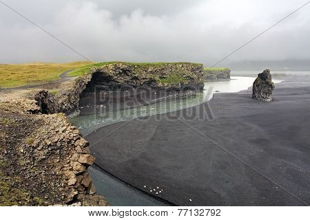 The Black Sand Beach Of Reynisfjara - Dyrholaey, Iceland