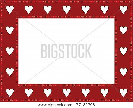Red Gem Heart Frame