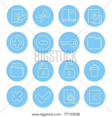 Navigation icon and buttons set.  Vector illustration of different interface web icons
