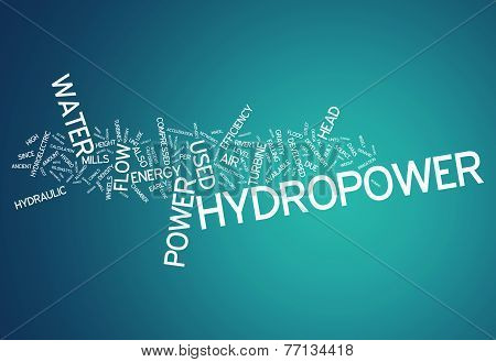 Word Cloud Hydropower